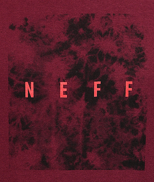 Neff Quad Burgundy & Black T-Shirt