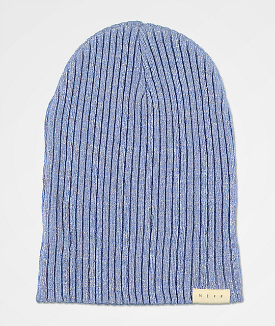 Neff Ride Lurex Blue Beanie