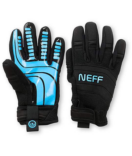 Neff Rover Black & Blue Pipe Snowboard Gloves