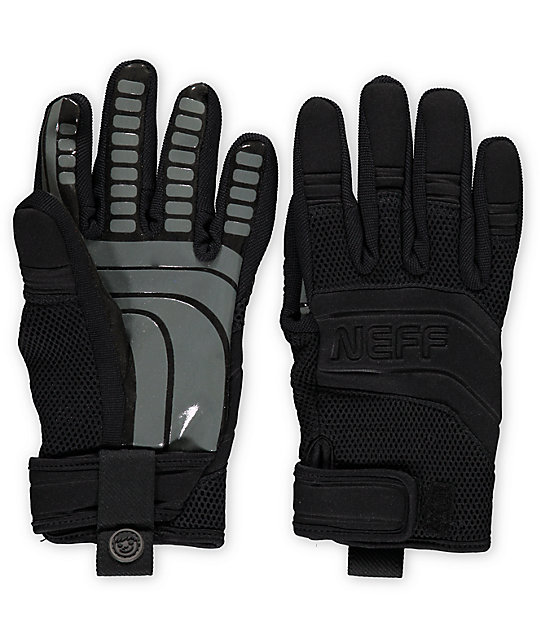 Neff Rover Black & Grey Pipe Snowboard Gloves