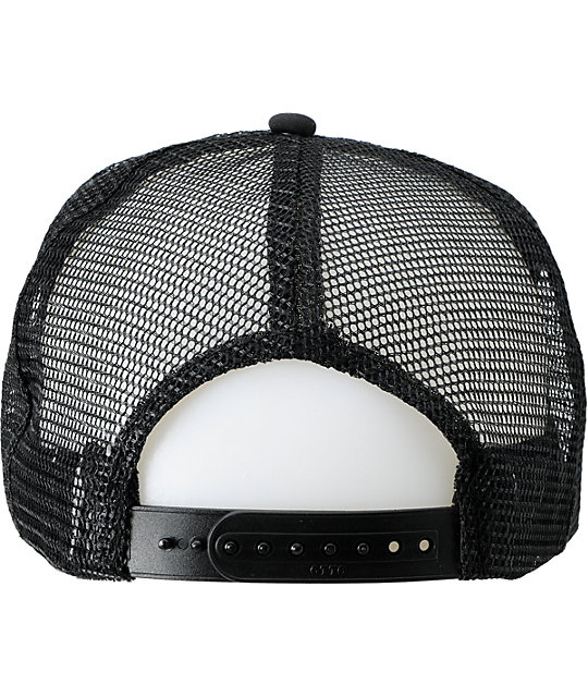 Neff Scratch Black Snapback Trucker Hat