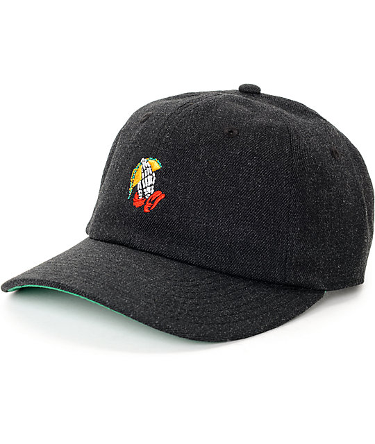 Neff Smedium Taco Dark Grey Baseball Hat  c4317afb3b3