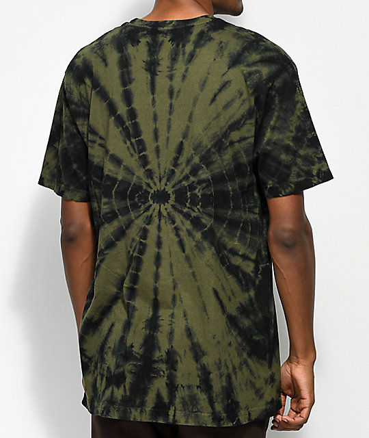 Neff Smile Face Olive Tie Dye T-Shirt