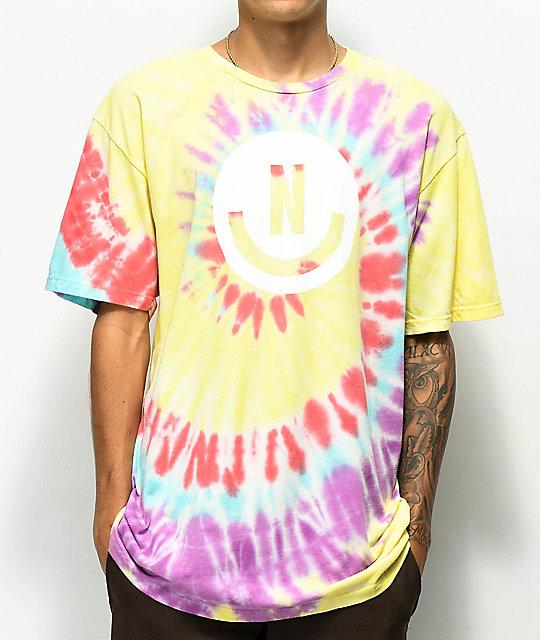 bb54de7819f83 Neff Smile Face Yellow Tie Dye T-Shirt