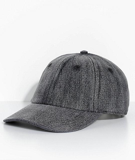 4d51e2c3 Neff Step Dad Black Denim Strapback Hat | Zumiez