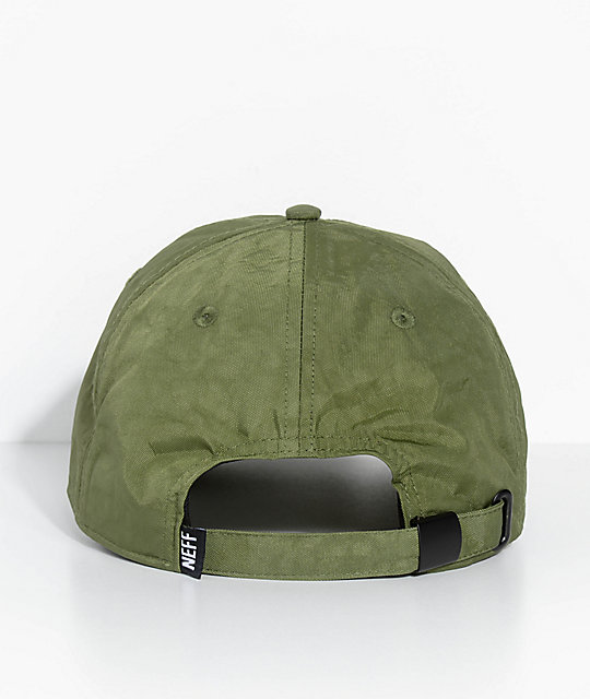 Neff Step Dad Olive Strapback Hat