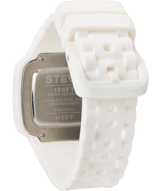 Neff Steve White Digital Watch