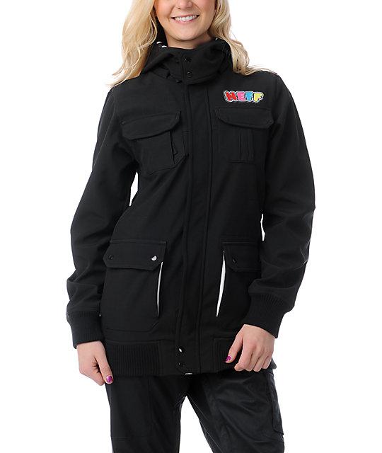 Neff Summit Black 10K Softshell Snowboard Jacket