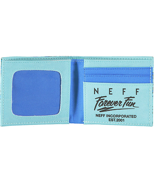 Neff Sun Fun Blue Bifold Wallet