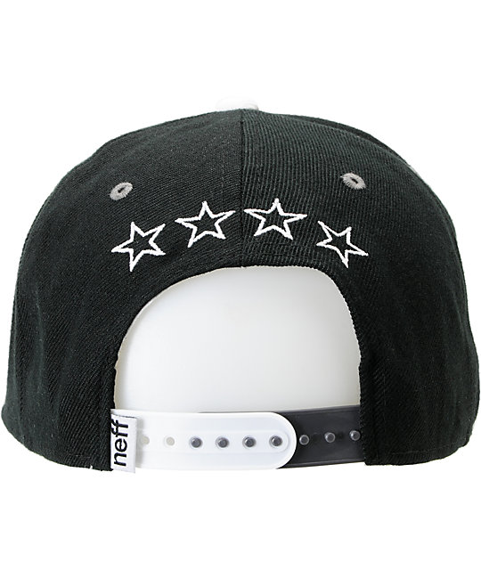 Neff Team Black & Grey Snapback Hat