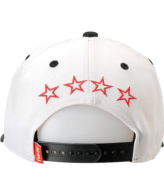 Neff Team White & Black Snapback Hat