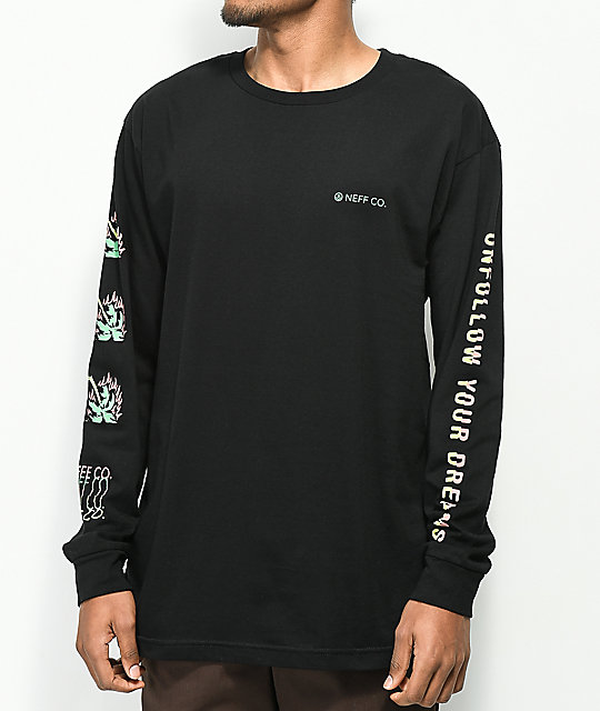 Neff Unfollow Black Long Sleeve T-Shirt