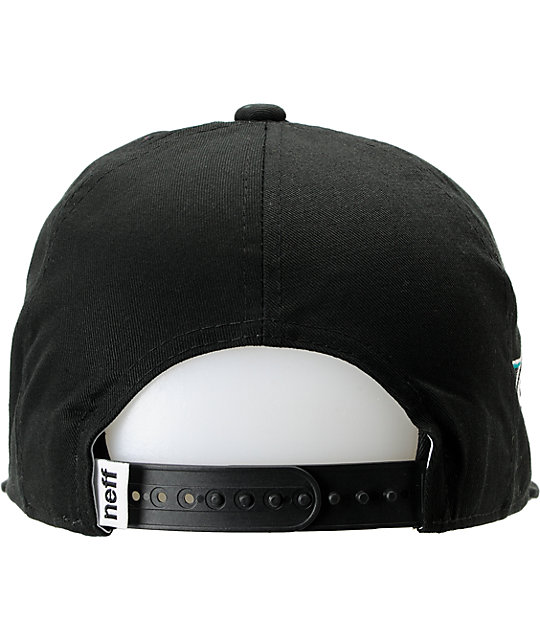 Neff Vicer Black Snapback Hat