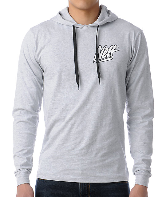 Neff Wave Rider Grey Pullover Hooded T-Shirt