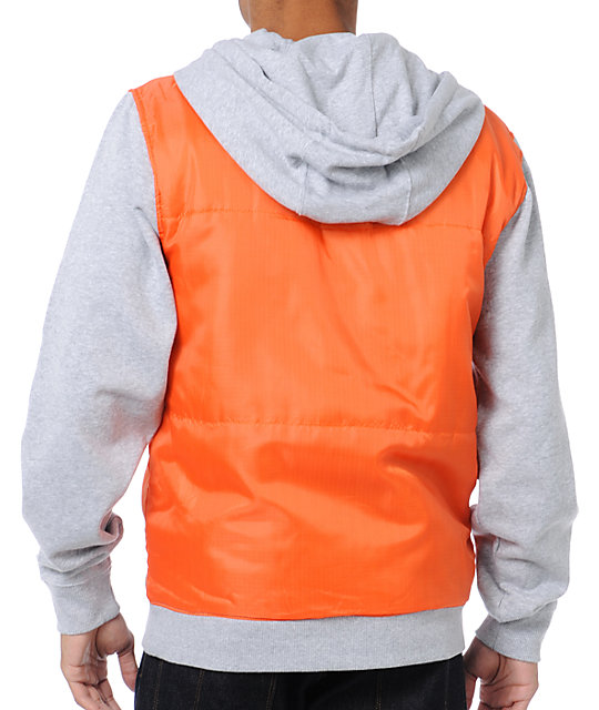 Neff Woodchip Orange Zip Up Hoodie