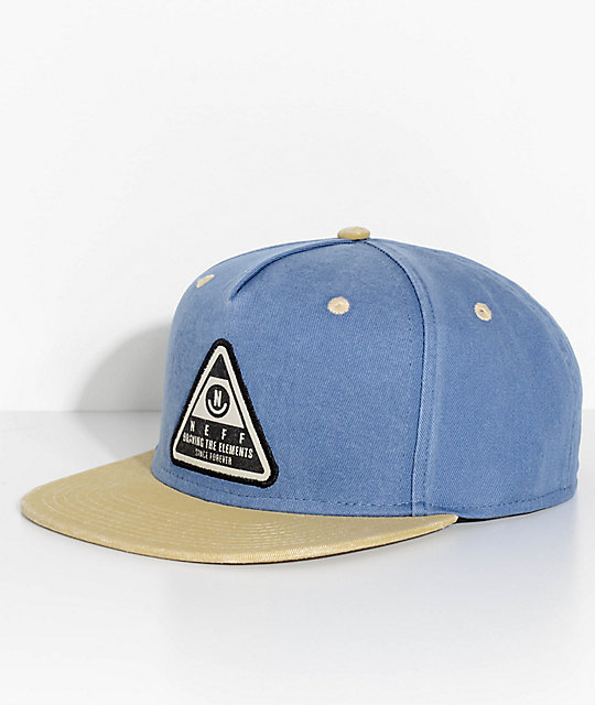 Neff X Washed Navy Twill Snapback Hat