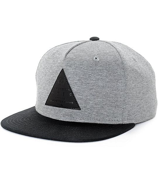 Neff X2 Grey   Black Snapback Hat  aa4ee601b69