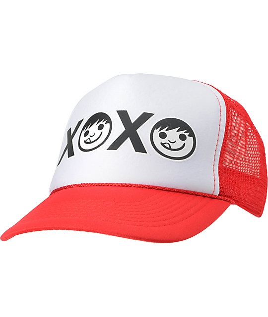Neff XOXO Red Snapback Trucker Hat