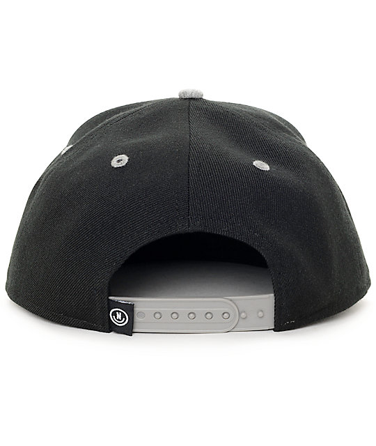 5c36a56edfc37 ... Neff XZ Black   Heather Grey Snapback Hat