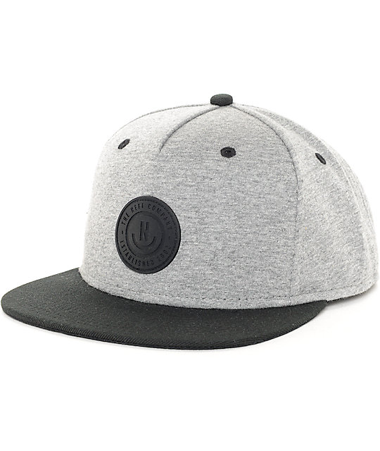 f703f7d5d4cd2 Neff XZ Heather Grey   Black Snapback Hat