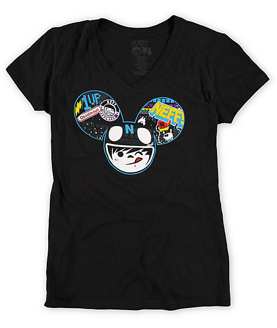 Neff x Deadmau5 Radder Black V-Neck T-Shirt