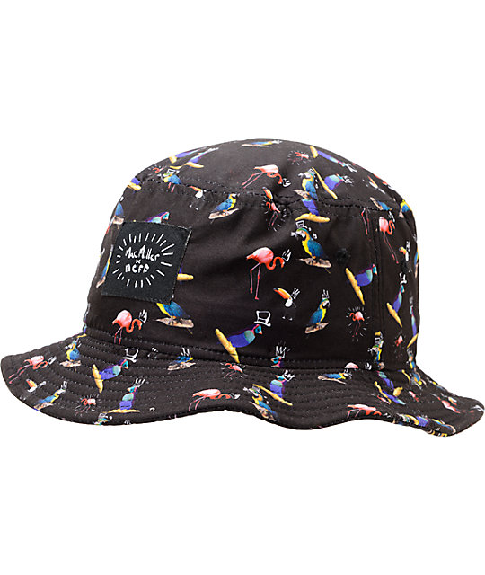 243880a7753 Neff x Mac Miller Bird Black Bucket Hat