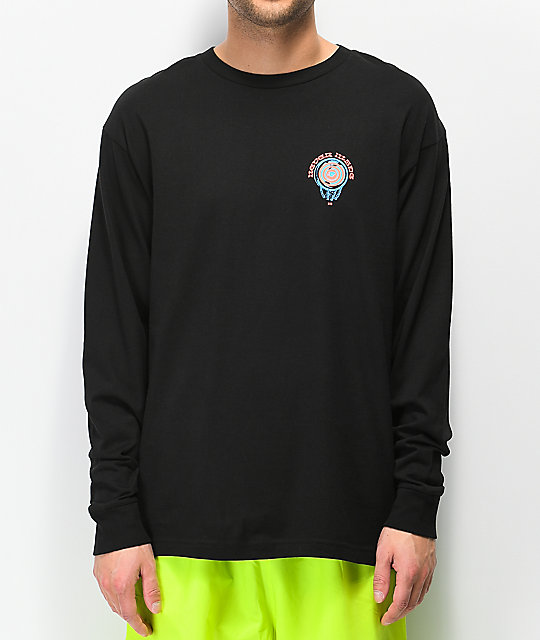 Never Made Crystal Ball Black Long Sleeve T-Shirt