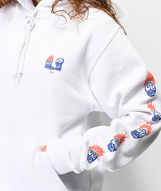 Never Made Day & Night White Hoodie