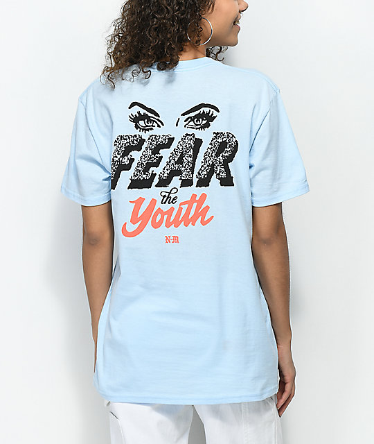 Never Made Fear The Youth camiseta en azul claro
