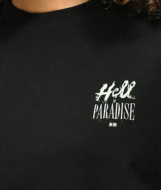 Never Made Hell In Paradise Black Crop T-Shirt