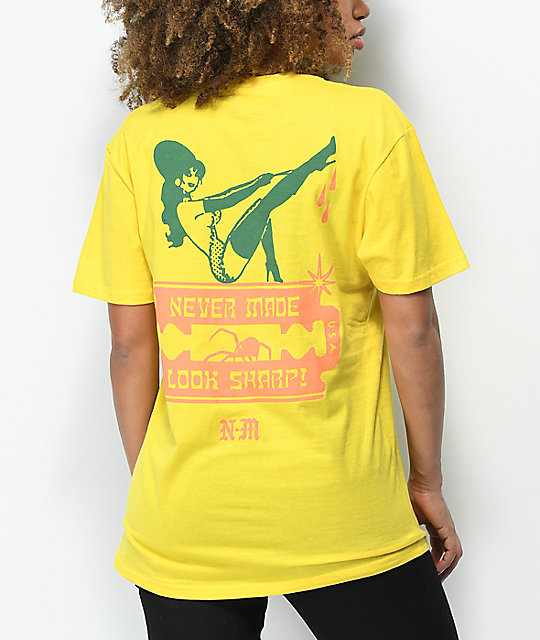 Never Made Look Sharp Yellow T-Shirt