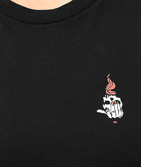 Never Made Skull Torch Black T-Shirt