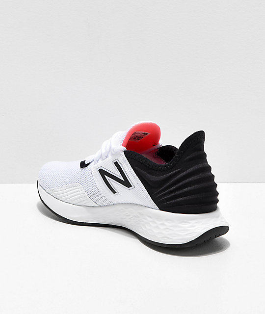 online retailer ed593 34566 ... New Balance Fresh Foam Roav White, Black   Pink Shoes ...