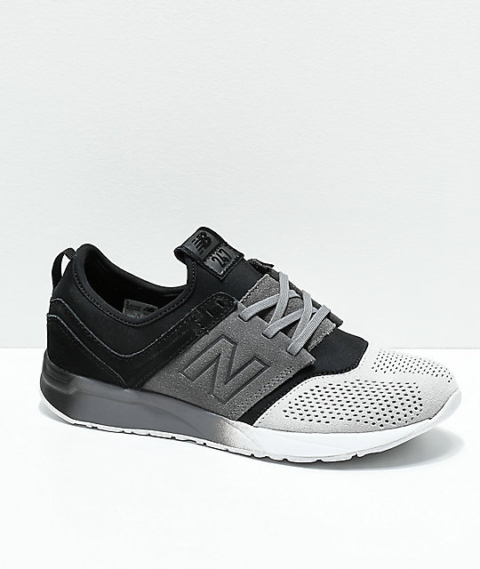 New Balance Kids Lifestyle 247 Black & Castle Rock Shoes