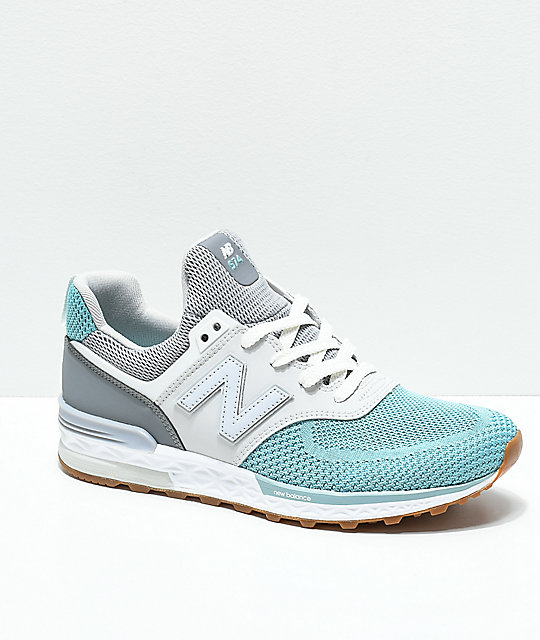 New Balance Kids Lifestyle 574 Sport Gunmetal & Storm Blue Shoes