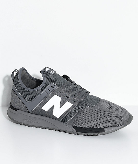 New Balance Lifestyle 247 Classic Grey   Black Mesh Shoes  a792825993