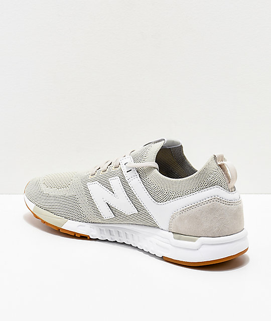 New Balance Lifestyle 247 Deconstructed Moonbeam & White Shoes