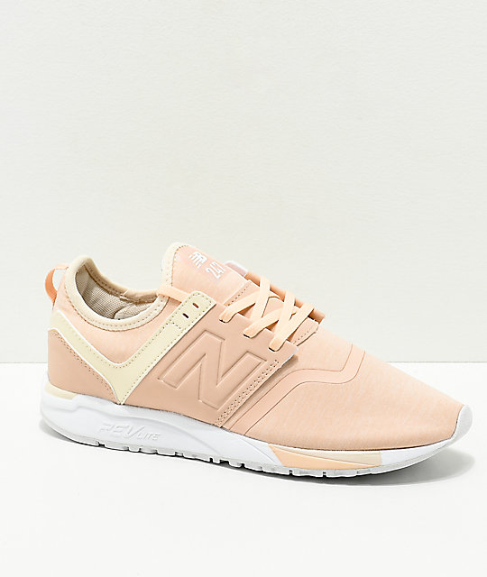 lowest price classic style save up to 80% New Balance Lifestyle 247 Pink & Cream Textile Shoes