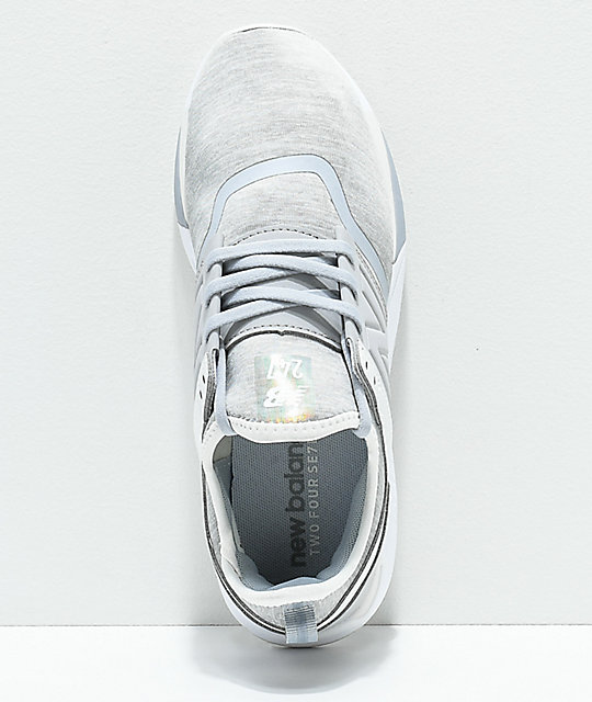 New Balance Lifestyle 247 Silver Mink & White Textile Shoes