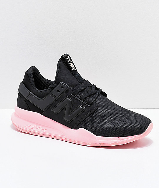 New Balance Lifestyle 247 V2 Black & Himalayan Salt Pink Shoes