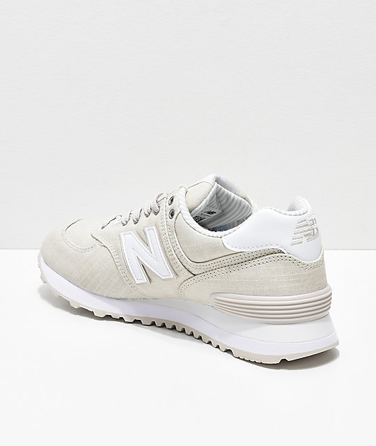 New Balance Lifestyle 574 Moonbeam & Beach Chambray Shoes