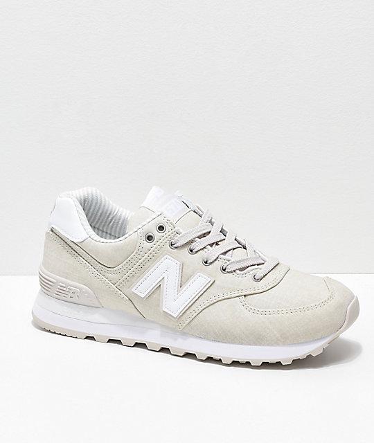 New Balance Lifestyle 574 Moonbeam & Beach Chambray Shoes