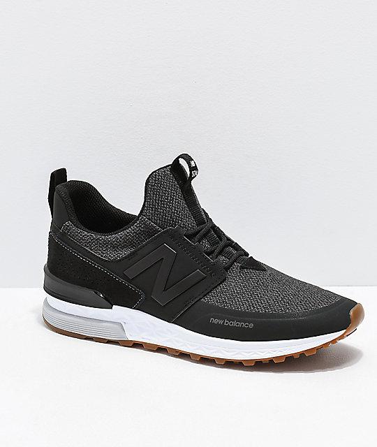 save off bbe52 55db1 New Balance Lifestyle 574 Sport Decon Black   Magnet Grey Shoes   Zumiez