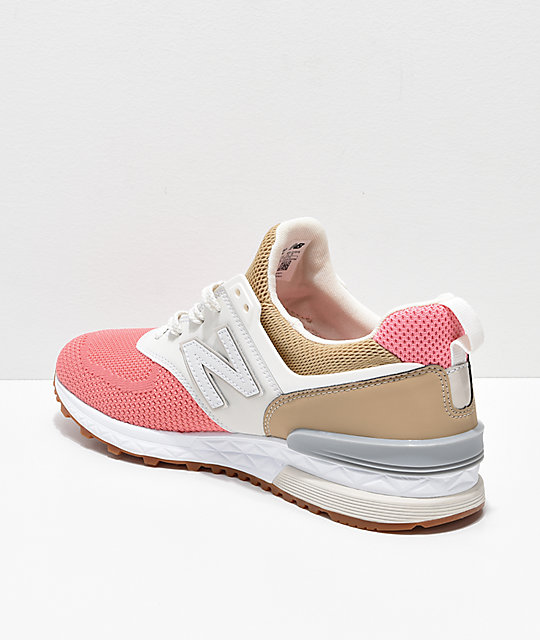 watch 95d44 f50ed New Balance Lifestyle 574 Sport Hemp, Dusted Pink & Grey Shoes