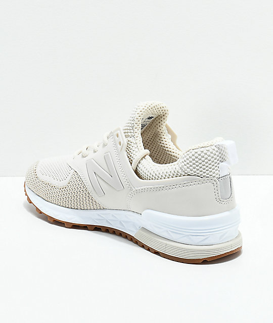 New Balance Lifestyle 574 Sport Moonbeam & White Shoes