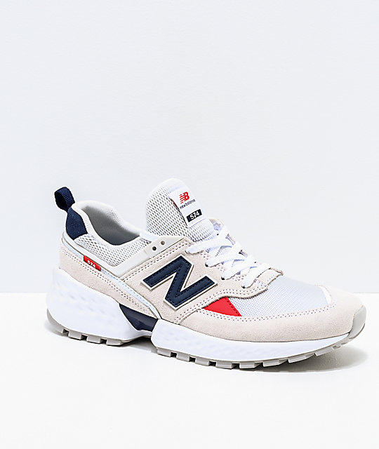 New Balance Lifestyle 574 Sport Nimbus Cloud and White Shoes