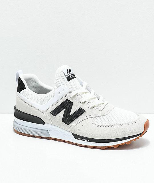 32419669fc6 New Balance Lifestyle 574 Sport Nimbus Cloud zapatos blancos y negros ...