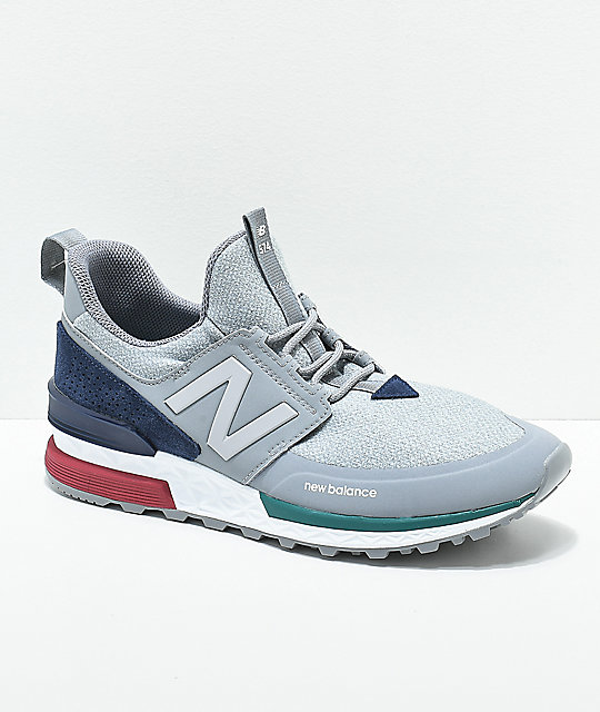 New Balance 574 Sport Classic Burgundy with White | HommeFemme Lifestyle