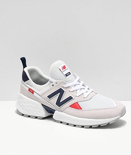 e20ceb5a0a8a6 New Balance Lifestyle 574 Sport zapatos Nimbus Cloud y blancos ...