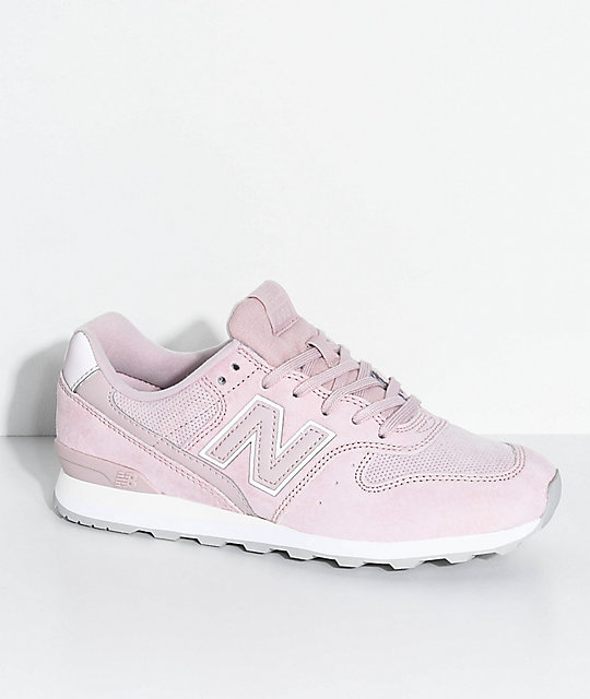 pink and grey new balance shoes